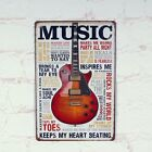 Vintage Metal Tin Sign Gitar Keeps Heart Beating Retro Bar Home Pub Wall Decor