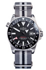 Davosa Automatic Argonautic Dual Time Stainless Steel Black Face Wrist Watch