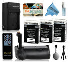 Battery Power Grip + Charger + 3x LPE8 2400mAh for Canon EOS Kiss X4 X5 X6i X7i