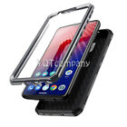 BLACK HEAVY DUTY TOUGH SHOCKPROOF HARD CASE COVER FOR MOBILE PHONES