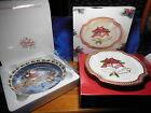 Fritz and Floyd Holiday Bells Canape Plate & Avon 2003 Coming to town with Boxes