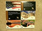 COMPLETE SET OF AMERICA THE BEAUTIFUL PROOF QUARTERS WITH COA 2010 thru 2015