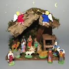 Old FrenchSantonsChristmasNativity Set from Provence with Italian Manger