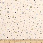Rainbow Dreams Stars  Hearts Beige Cream 100 cotton Fabric by the yard