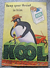 VINTAGE KOOL CIGARETTES KEEP YOUR THROAT IN TRIM STORE DISPLAY ADVERTISING SIGN