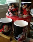 Coffee Tea Mug Cup Christmas Coca Cola Set of 4 Sakura Stoneware Coke