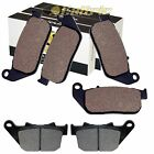FRONT REAR BRAKE PADS FIT HARLEY DAVIDSON XL1200R SPORTSTER ROADSTER 2004-2009