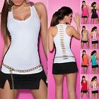 Womens Lace Cut Out Tank Top S M L