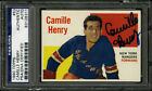 1960-61 1960 TOPPS HOCKEY #53 CAMILLE HENRY PSA DNA AUTOGRAPHED SIGNED