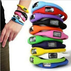 New Silicone Jelly Rubber Band Anion Unisex Digital Sport Wrist Watch 7 ColorsEF