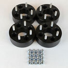 Black 4x100 Billet Wheel Spacers Adapters 4pc 1.5 inch for Honda Toyota cb 4 lug