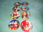 Sakura Coca Cola Santa Claus Christmas Stoneware Plates Complate set of 8