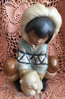 Lladro 2232 Poor Little Bear, Eskimo Boy Gres! Mint Condition! No Box! L@@K!