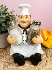 French Bistro Chef Jean Seasons and Spice Salt Pepper Shaker Holder Figurine