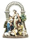 The Holy Family Nativity Scene Mary Joseph and Baby Jesus With Shepherd Boy 8H