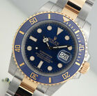 Rolex SUBMARINER 116613 LB Mens Steel & Yellow Gold Blue Dial Ceramic Bezel 40MM