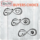 Infinity of Love Peace Pet Buyers Choice Stickers for Cars Trucks Laptops
