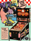 DINER Original PROMO Pinball Flyer WILLIAMS 1990 Brochure Advertising Ad Slick