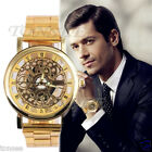 Luxury Mens Retro Hollow out Gear Stainless Steel Watch Wrist Watches Armbanduhr