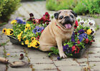 Dog On Flower Tray Funny Pug Mothers Day Card Greeting Card by Avanti Press