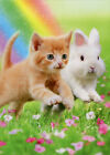 Kitten And Bunny Friends Cat Easter Card Greeting Card by Avanti Press
