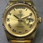 ROLEX DAY-DATE PRESIDENT 36MM 118238 18K YG CHAMPAGNE ROMAN DIAL W/ PAPERS