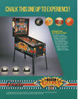 POOL SHARKS by BALLY 1990 ORIGINAL PINBALL MACHINE Promo Sales Flyer