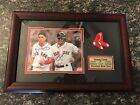 Autographed Dustin Pedroia and Jacoby Ellsbury Boston Red Sox Framed Photograph