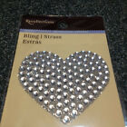 Recollections Dimensional Stickers NEW 3D GEMS CRYSTAL RHINESTONE HEART 3D