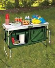 Portable Childs Project or Folding Camping Table with Storage