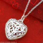 925 STERLING SILVER PLATED HEART NECKLACE ROMANTIC VALENTINES DAY GIFT FOR WOMEN