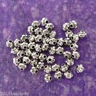 Antique Silver Alloy Metal Melon Beads Spacers 50 Pieces 44mm 0345