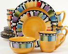 Gibson Home Fandango 16-piece Dinnerware Set Service for 4 NEW FREE SHIP