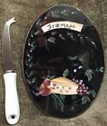 Certified International Kate McRostie Fromage Fruit Cheese Plate 9