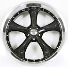 STATUS RETRO 22 x 85 BLACK B7 RIMS WHEELS CHRYSLER 300 300C V8 HEMI 5H +15