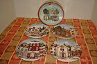 David Carter Brown Christmas Village Salad Plates BNIB - RARE!