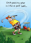 Man Golfing Funny Masculine Birthday Card Greeting Card by Oatmeal Studios