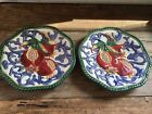 FITZ & FLOYD FLORENTINE FRUIT PLATE BRAIDED POMEGRANATE set of TWO