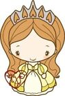 PRINCESS ANYA 2 The Greeting Farm Cling Rubber Stamp Stamping Craft RETIRED