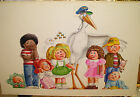 Original CPK Painting ~ Colonel Casey the Stork & 7 Original Cabbage Patch Kids