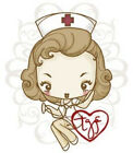 CHEEKY NURSE The Greeting Farm Cling Mount Rubber Stamp Stamping Craft RETIRED