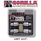 Gorilla Guard II Wheel Locks, 12mm x 1.50, Bulge Acorn, Chrome 12x1.5, 61631N