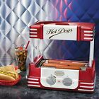 Vintage Counter Top Hot Dog Roller Grill Toaster Cooker w/ Built-in Bun Warmer
