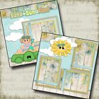 SAND SUN FUN GIRL 2 Premade Scrapbook Pages EZ Layout 82