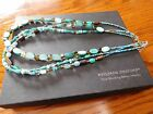 Silpada 3 strand blue-green and brown magnesite necklace N2195 retired