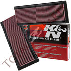 K&N Drop-In Washable Air Filters PAIR for Mercedes C/CLK/E/GL/ML/R/S/SL Class