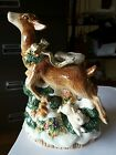 1996 Fitz and Floyd reindeer CANDLESTICK Candle HOLDER snowy woods
