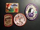 LOT OF 4 GIRL SCOUT BOY SCOUT PATCHES UNUSED