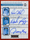 Paul O'Neill Wade Boggs Jimmy Key 2003 Upper Deck Yankees Forever Autograph 50