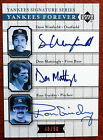 Dave Winfield Don Mattingly Ron Guidry 2003 Upper Deck Yankees Forever Autograph